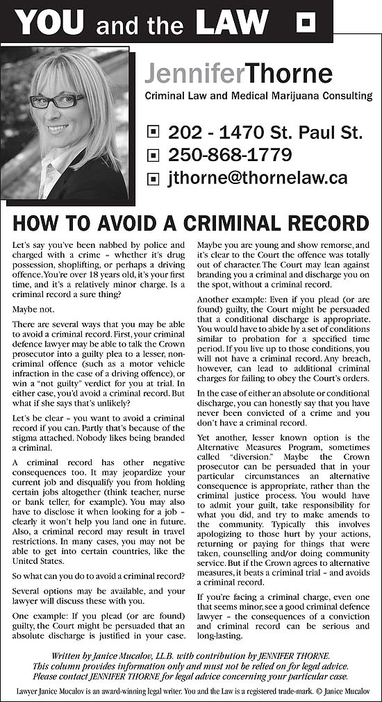 Sample Newspaper Column/Ads   You and the Law®